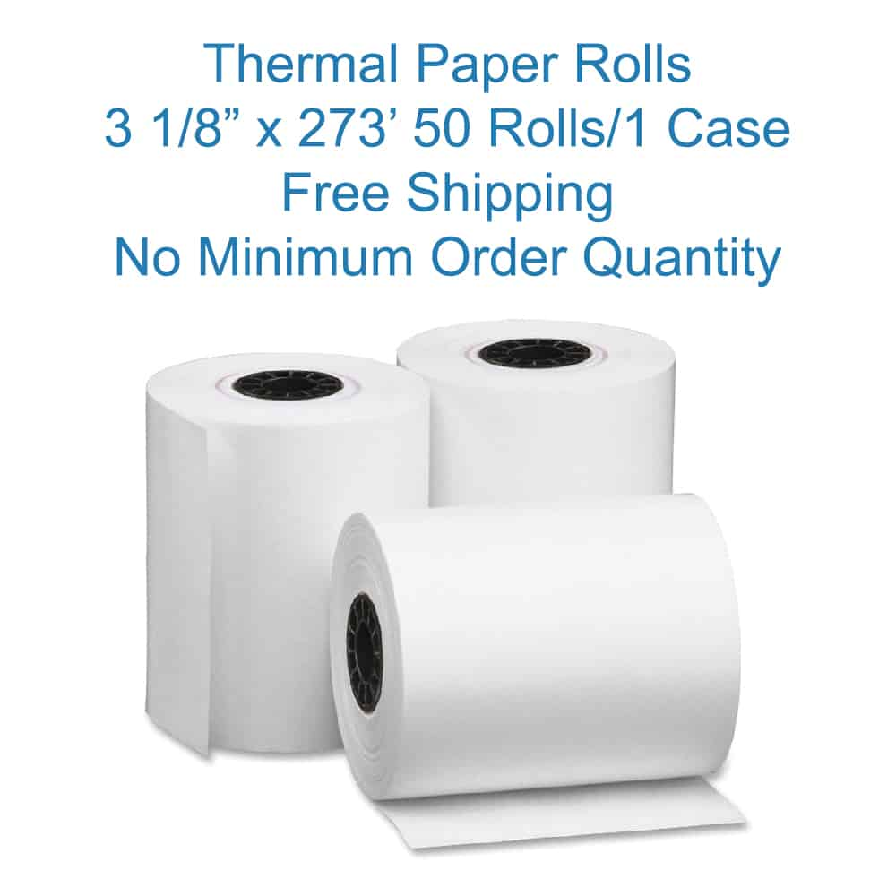 Pos the pos depot 3 1 8 x 273 39 thermal paper for 50 273