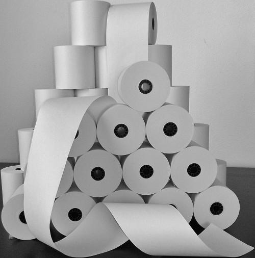 3X165 Single Ply Bond Paper Rolls