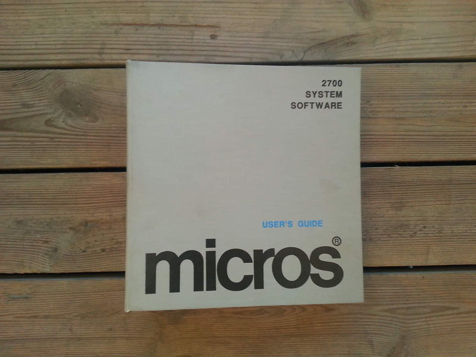 Micros HMS 2700 Programming Manual Cover