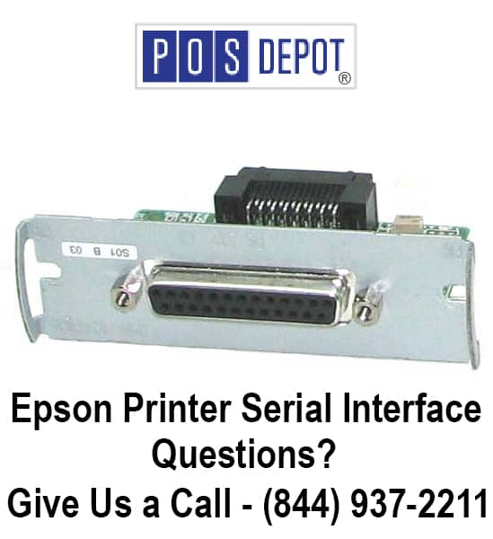Epson TM Line UB-S01 Serial Adapter RS-232 Interface Card M111A