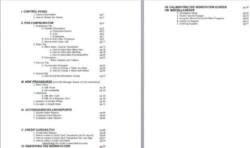 POS-Depot Micros RES 3700 Programming Manual Table of Contents