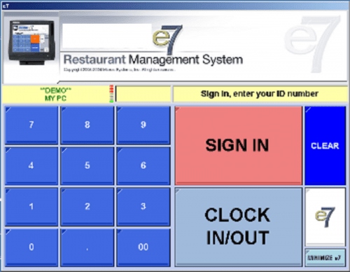 Micros e7 Point of Sale System