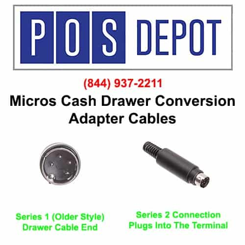 Micros™ 300290-022-PT Cash Drawer Conversion Cable. Made in The USA by The POS Depot™ (844) 937-2211