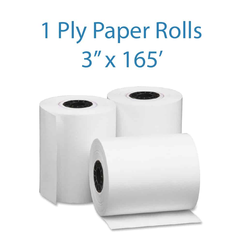 Pos Depot Single Ply Kitchen Printer Paper Rolls
