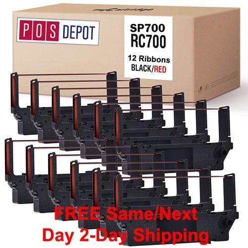 12pk RC700BR SP700 Black Red POS Ribbons.