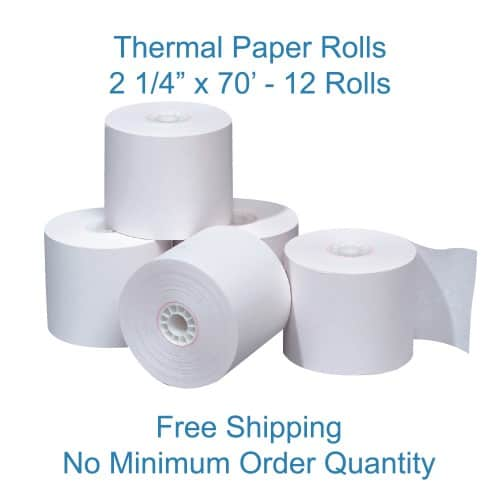 "POS-Depot.com The POS Depot 2 1/4"" x 70' Thermal Paper - 12 Rolls"