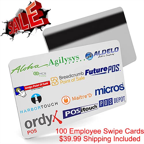 100 POS Employee Swipe Cards. The POS Depot™ Brand Cards.