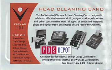 The POS Depot™ Credit Card POS Aclcohol Swipe Cleaning Cards. Call Us to Order These Cleaning Cards (844) 937-2211